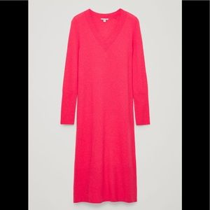 Cos pink sweater dress S